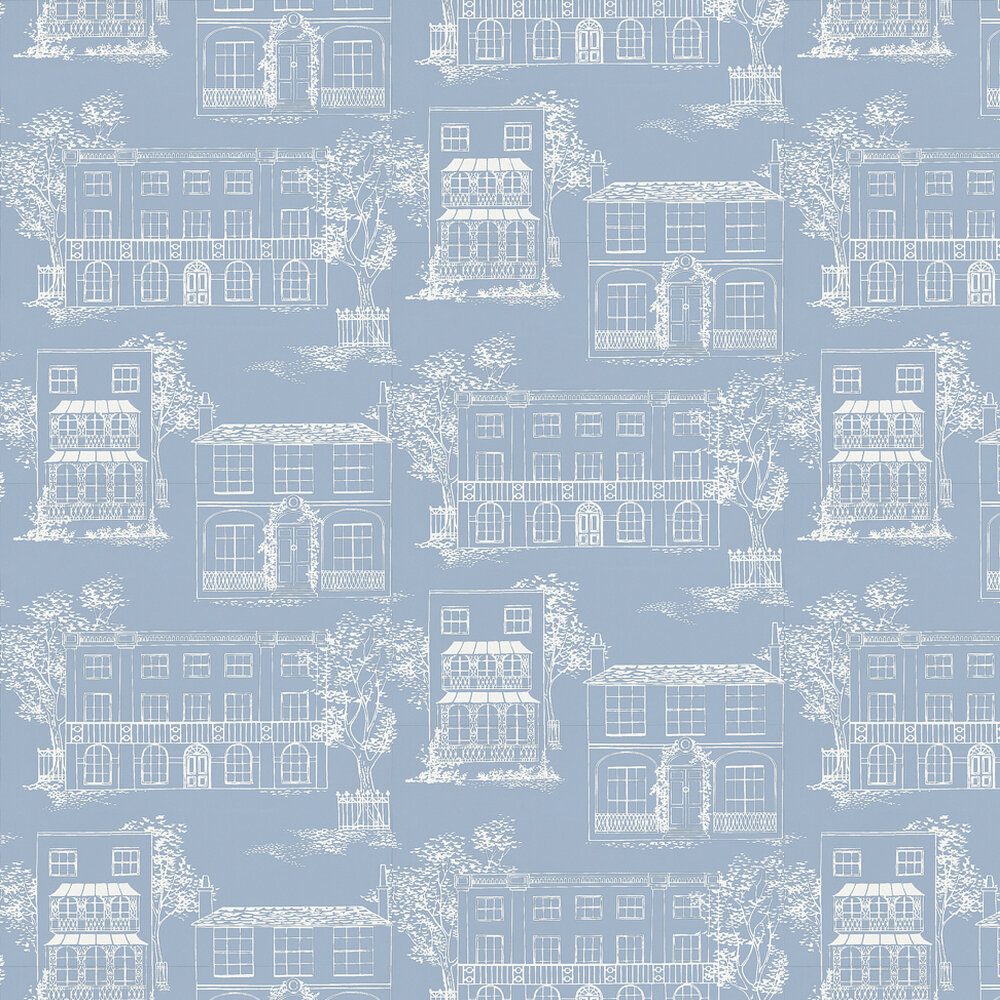 Little Greene Hampstead James Blue Wallpaper - Product code: 0271HAJAMES