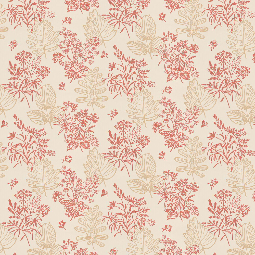 Little Greene Norcombe Jazz Red / Beige Wallpaper - Product code: 0271NRJAZZZ