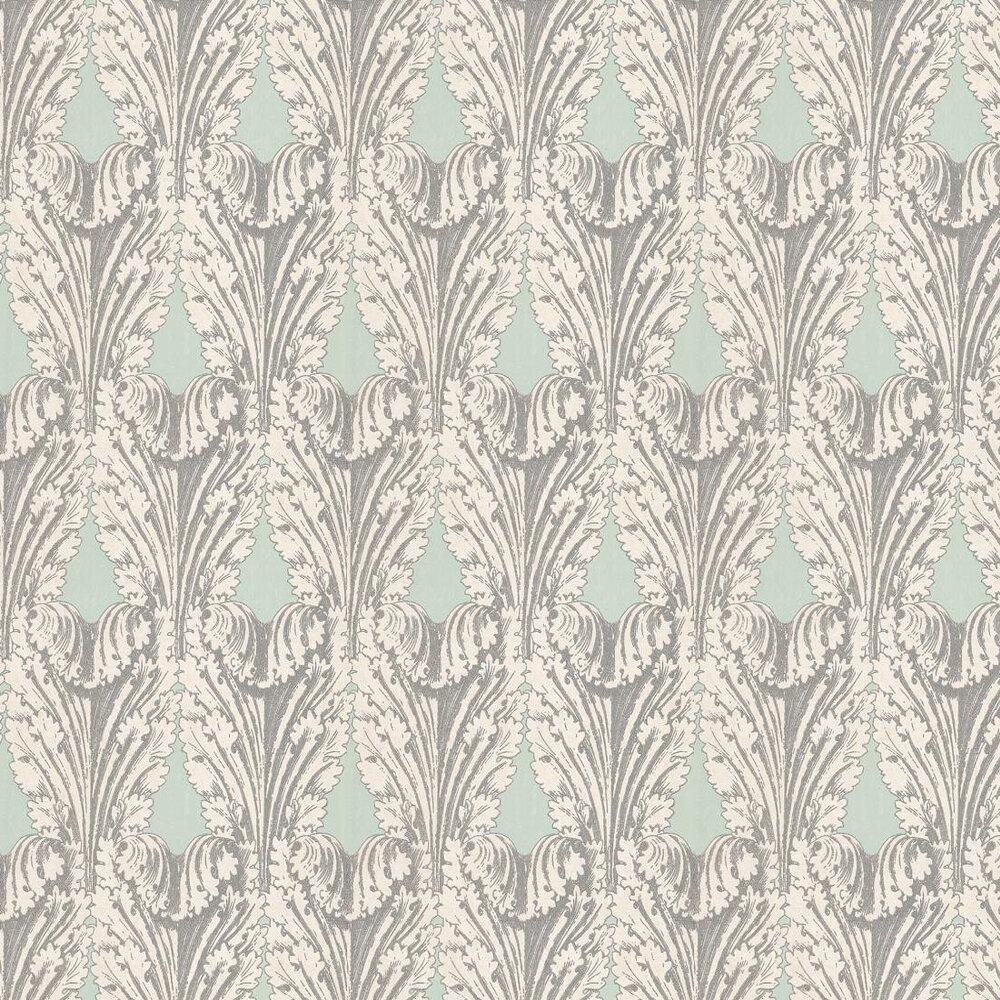 Osborne & Little Accademia Aqua / Silver Wallpaper - Product code: W6177/05