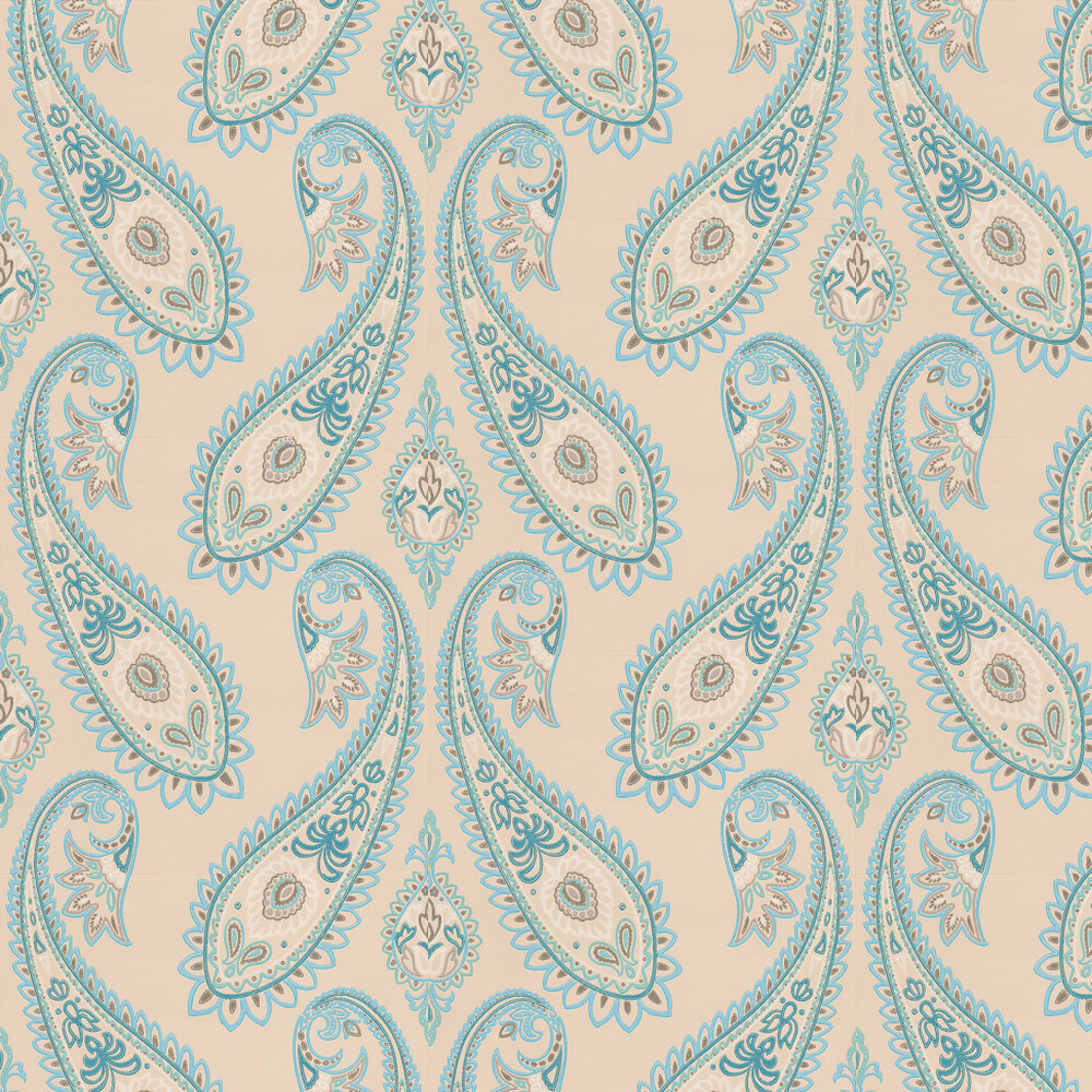 Osborne & Little Nizam Turquoise Wallpaper - Product code: W6179/04