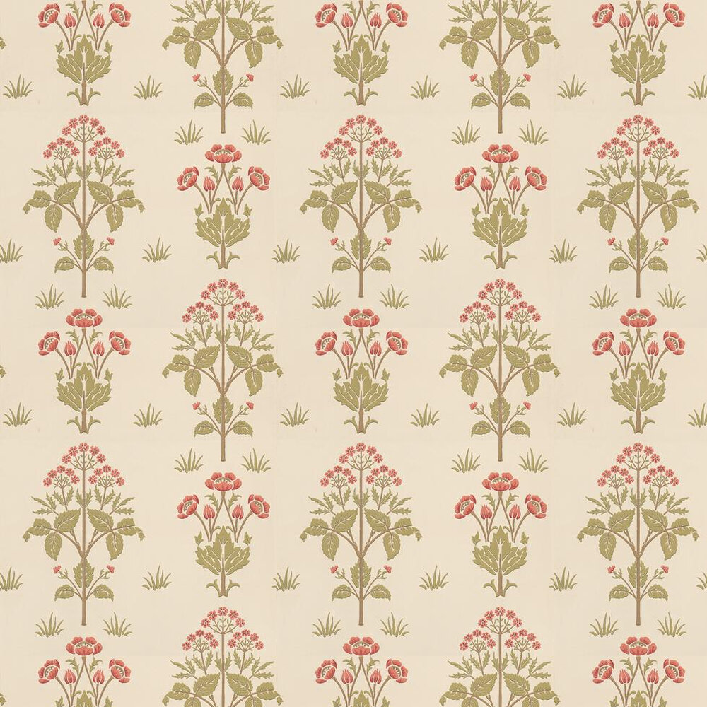 Morris Meadow Sweet Pink / Green / Neutral Wallpaper - Product code: 210347