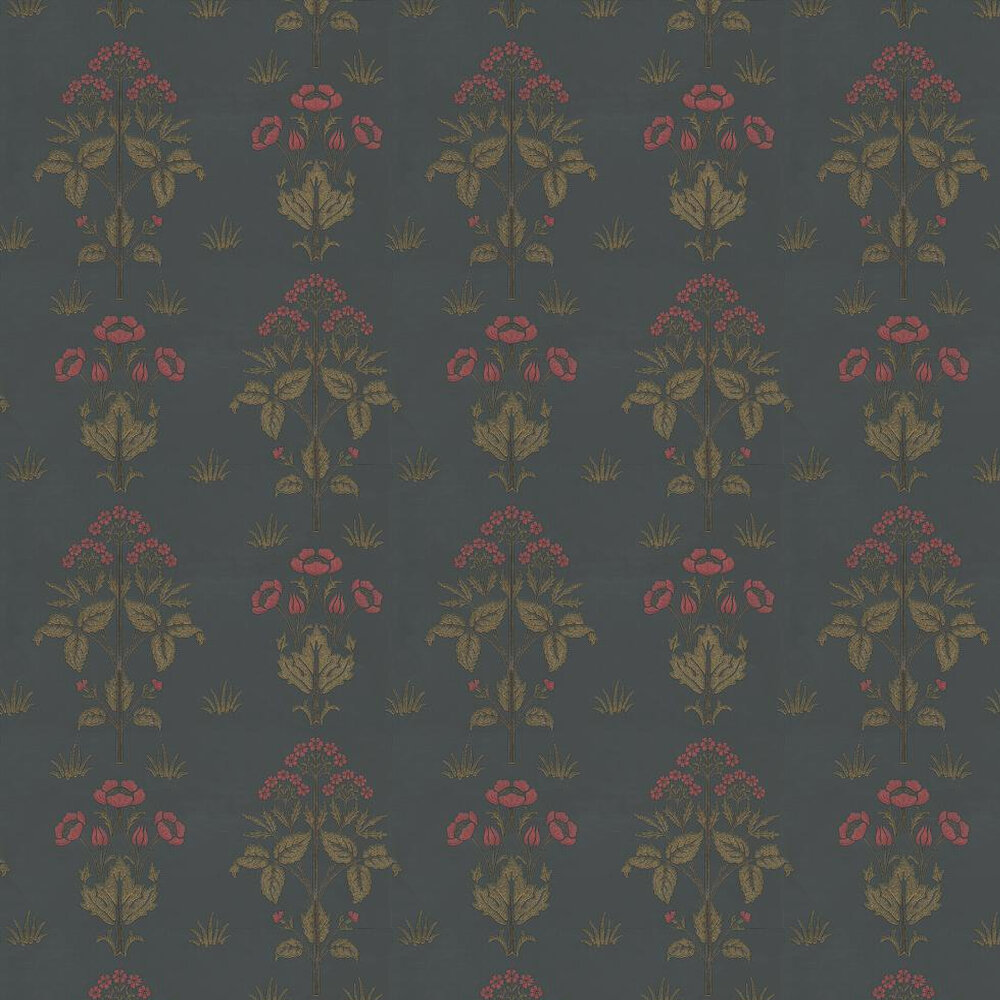 Morris Meadow Sweet Red / Charcoal Wallpaper - Product code: 210352