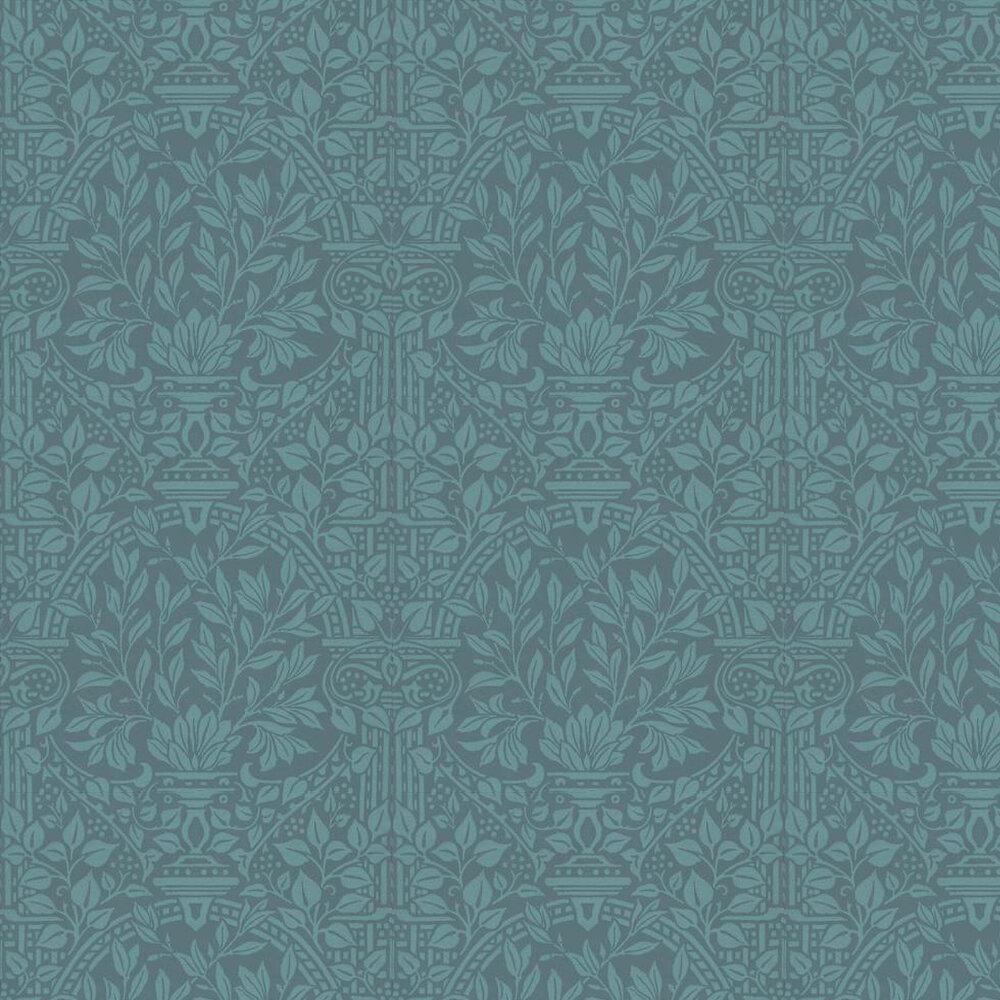 Garden Craft Wallpaper - Blue - by Morris