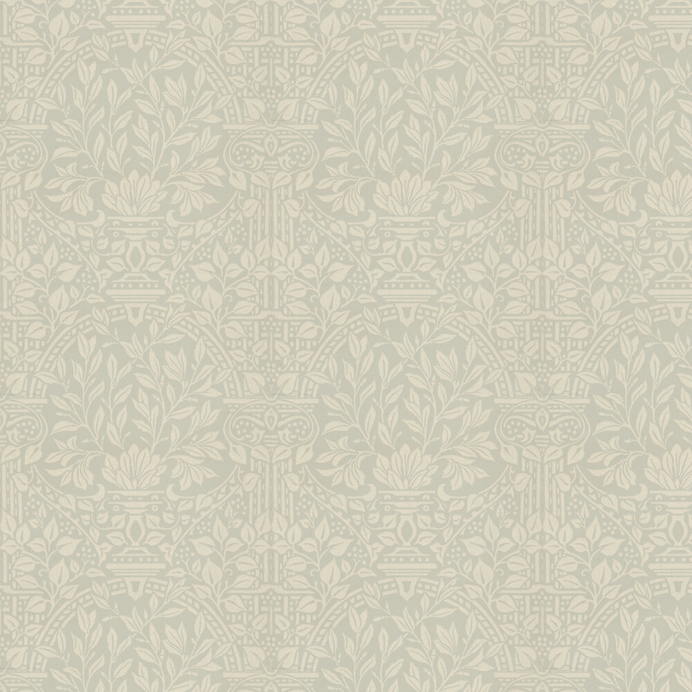 Garden Craft Wallpaper - Soft Grey - by Morris