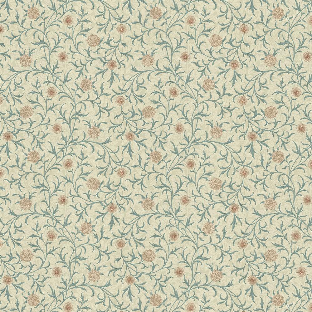 Morris Scroll Blue Green / Neutral Wallpaper - Product code: 210362