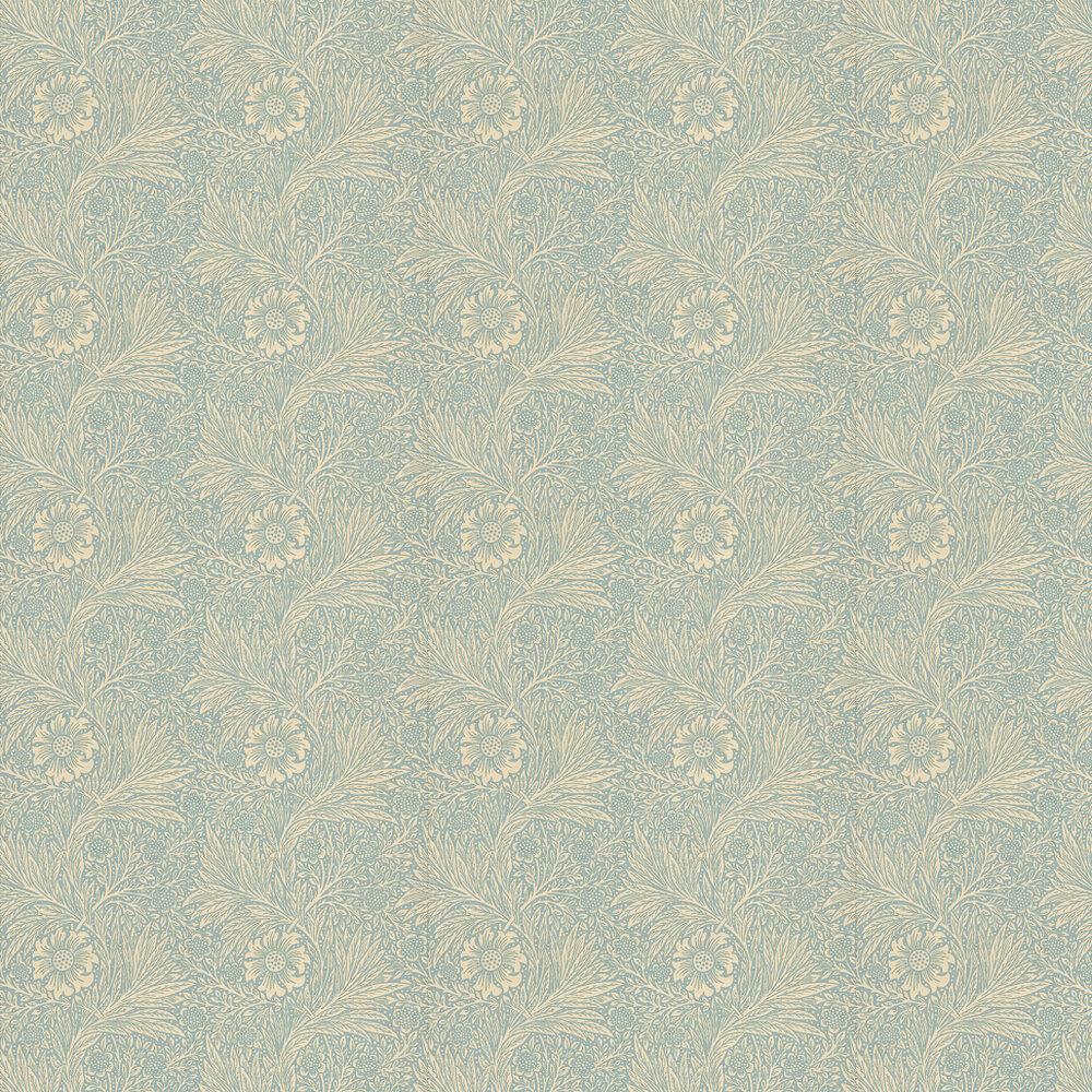 Marigold Wallpaper - Blue - by Morris