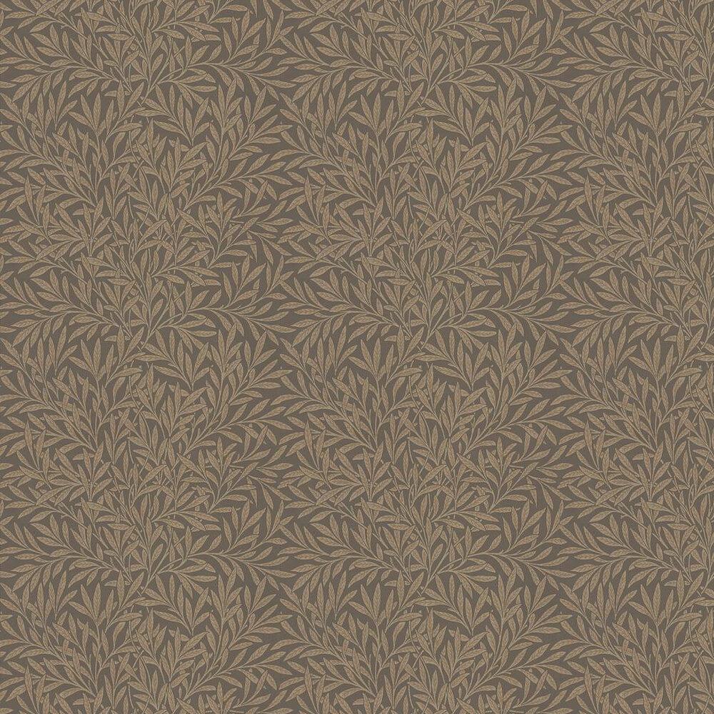 Morris Willow Chocolate / Beige Wallpaper - Product code: 210380
