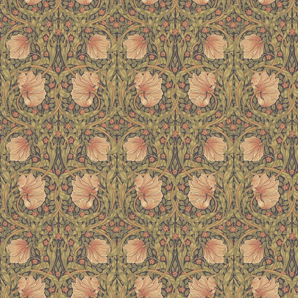 Pimpernel Wallpaper - Bullrush / Russet - by Morris