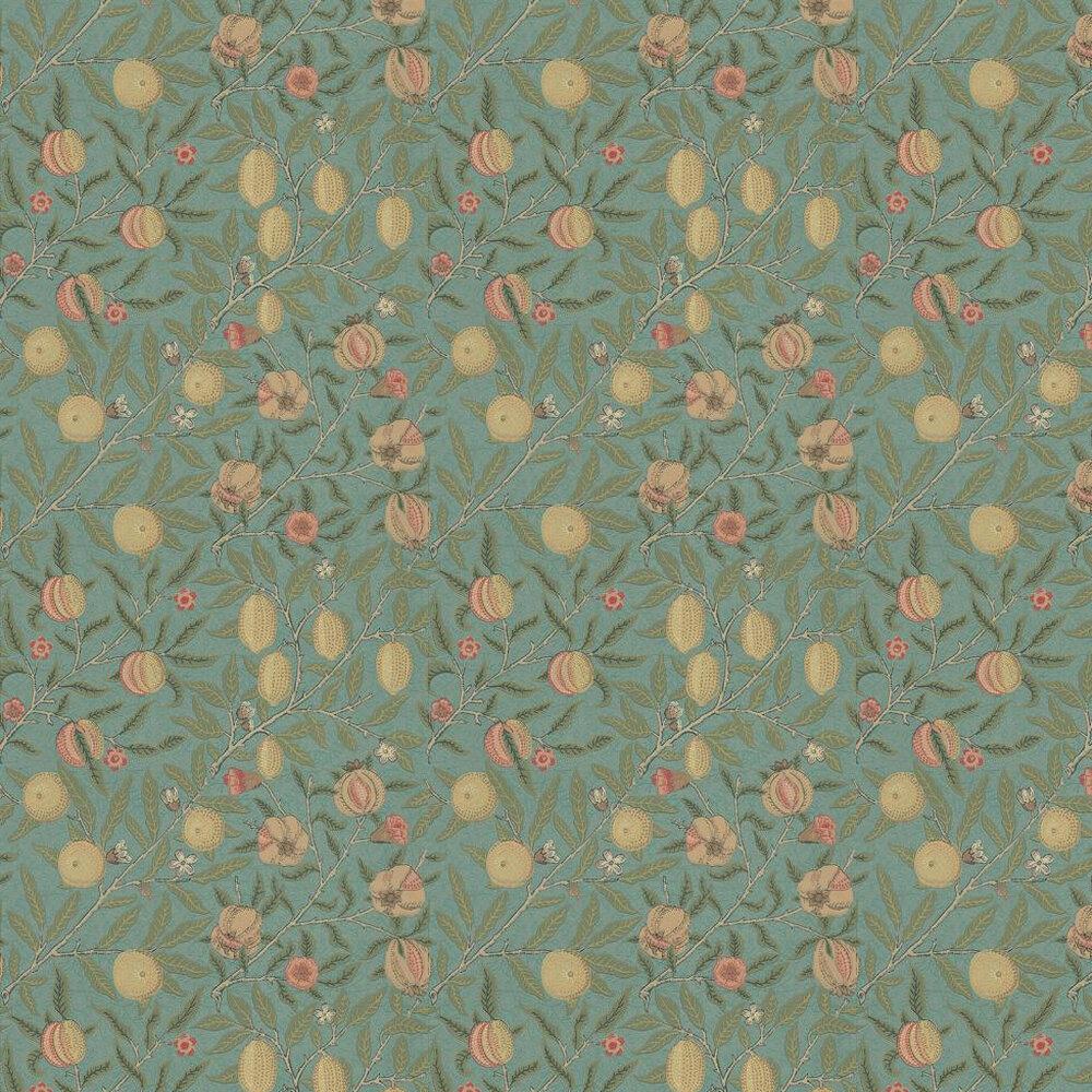 Fruit Wallpaper - Slate / Thyme - by Morris