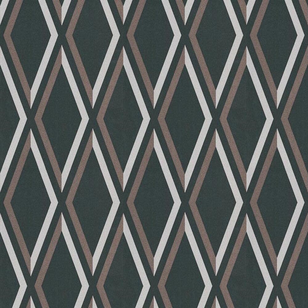 Pompeian Wallpaper - Grey / Brown / Black - by Cole & Son