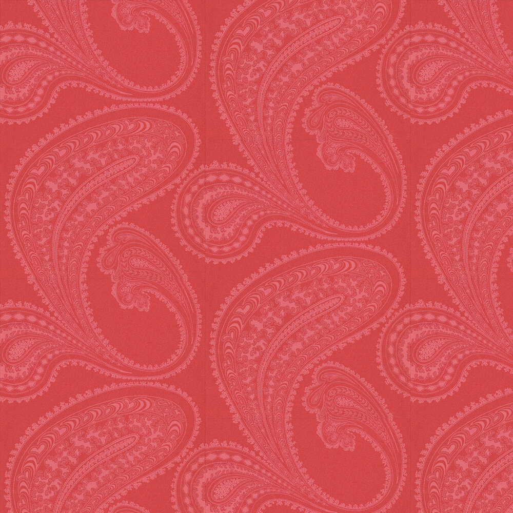 Rajapur Wallpaper - Pink / Red - by Cole & Son