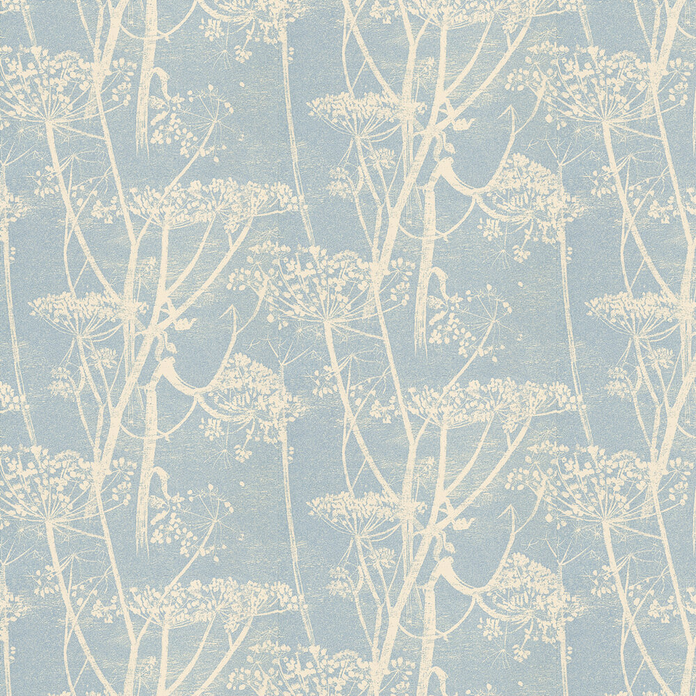 Cow Parsley Wallpaper - Blue - by Cole & Son