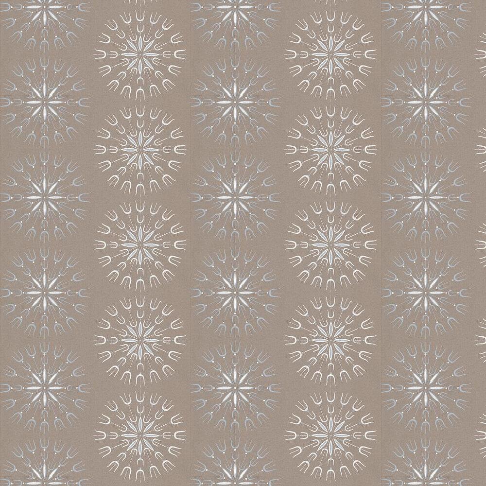 Fioretti Wallpaper - Brown / Blue / White - by Cole & Son
