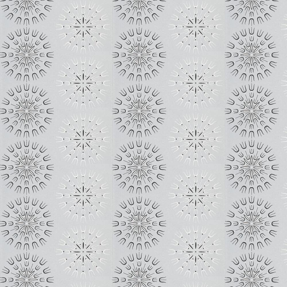 Fioretti Wallpaper - Black / White / Lilac - by Cole & Son