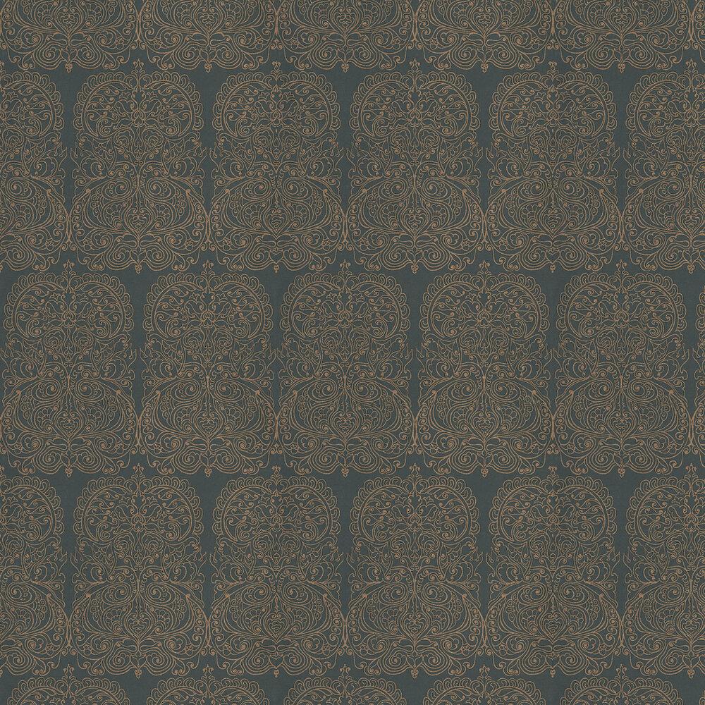 Alpana Wallpaper - Gold / Black - by Cole & Son