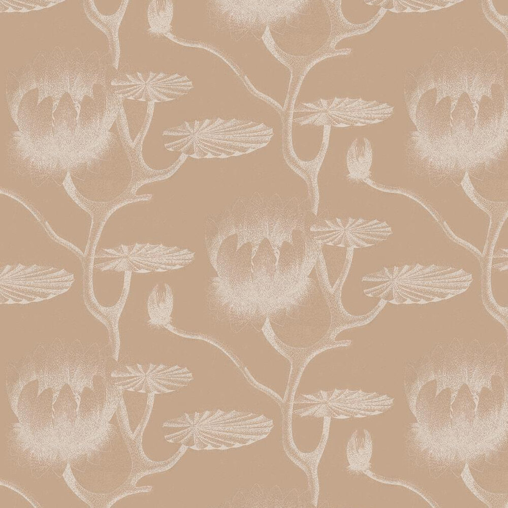 Lily Wallpaper - Light Grey / Beige - by Cole & Son