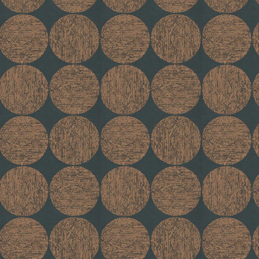 Luna Wallpaper - Rich Gold / Black - by Cole & Son