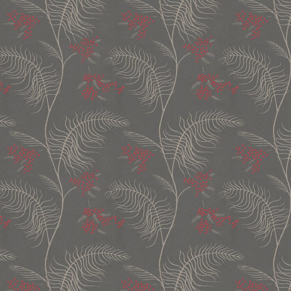Mimosa Wallpaper - Red / Beige / Dark Brown - by Cole & Son