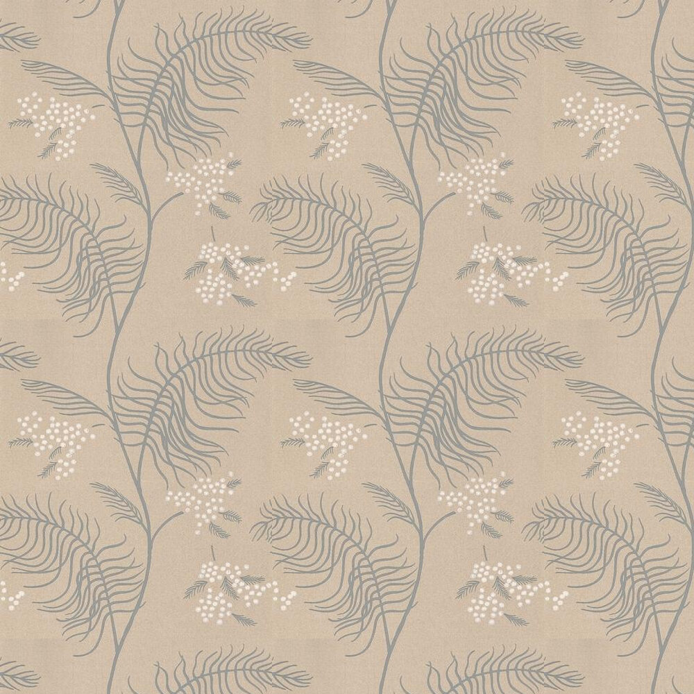 Cole & Son Mimosa Grey / White / Beige Wallpaper - Product code: 69/8131