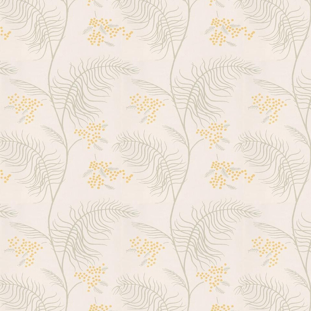 Mimosa Wallpaper - Grey / Yellow / White - by Cole & Son