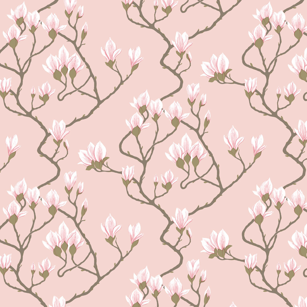 Magnolia Wallpaper - Pink - by Cole & Son