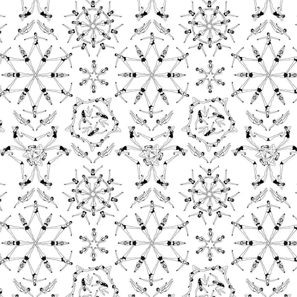 Splash Black & White Wallpaper - Black / White - by Dupenny