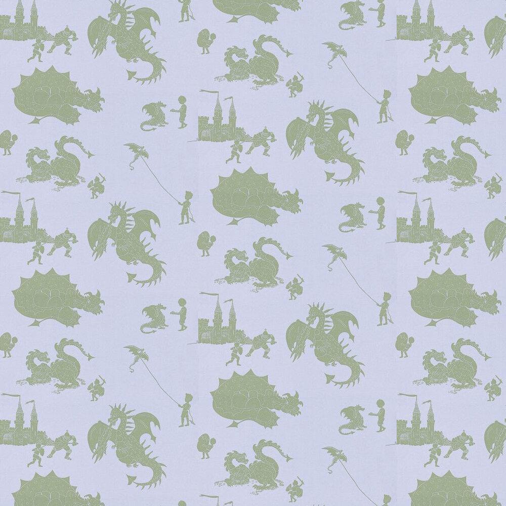PaperBoy Ere-be-dragons Grey Green / Grey Lilac Wallpaper - Product code: EBD Grey