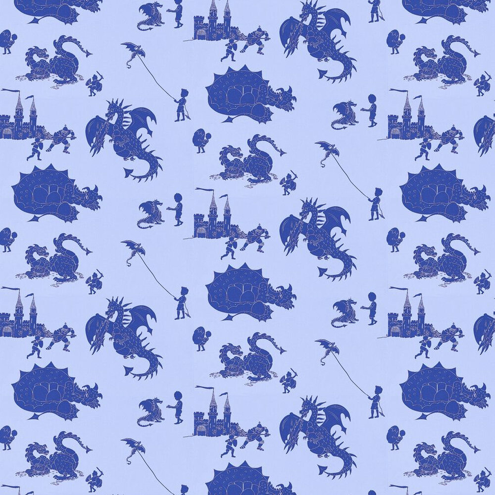 Ere-be-dragons Blue Wallpaper - by PaperBoy