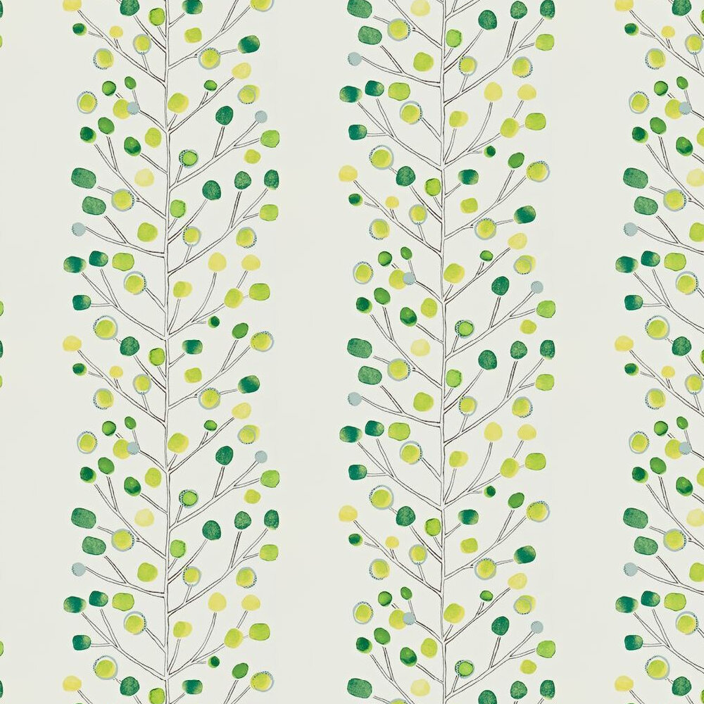 Berry Tree Wallpaper - Green - by Scion