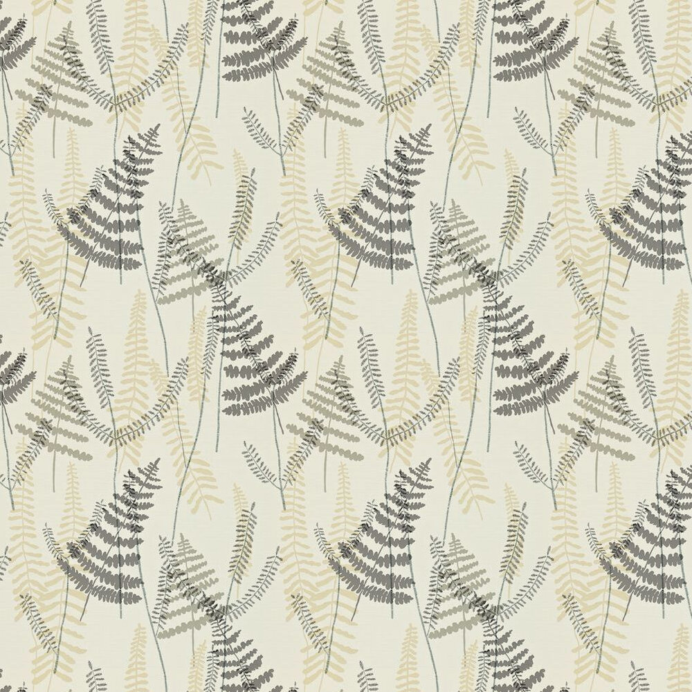 Scion Athyrium Beige / Charcoal / Cream Wallpaper - Product code: 110212