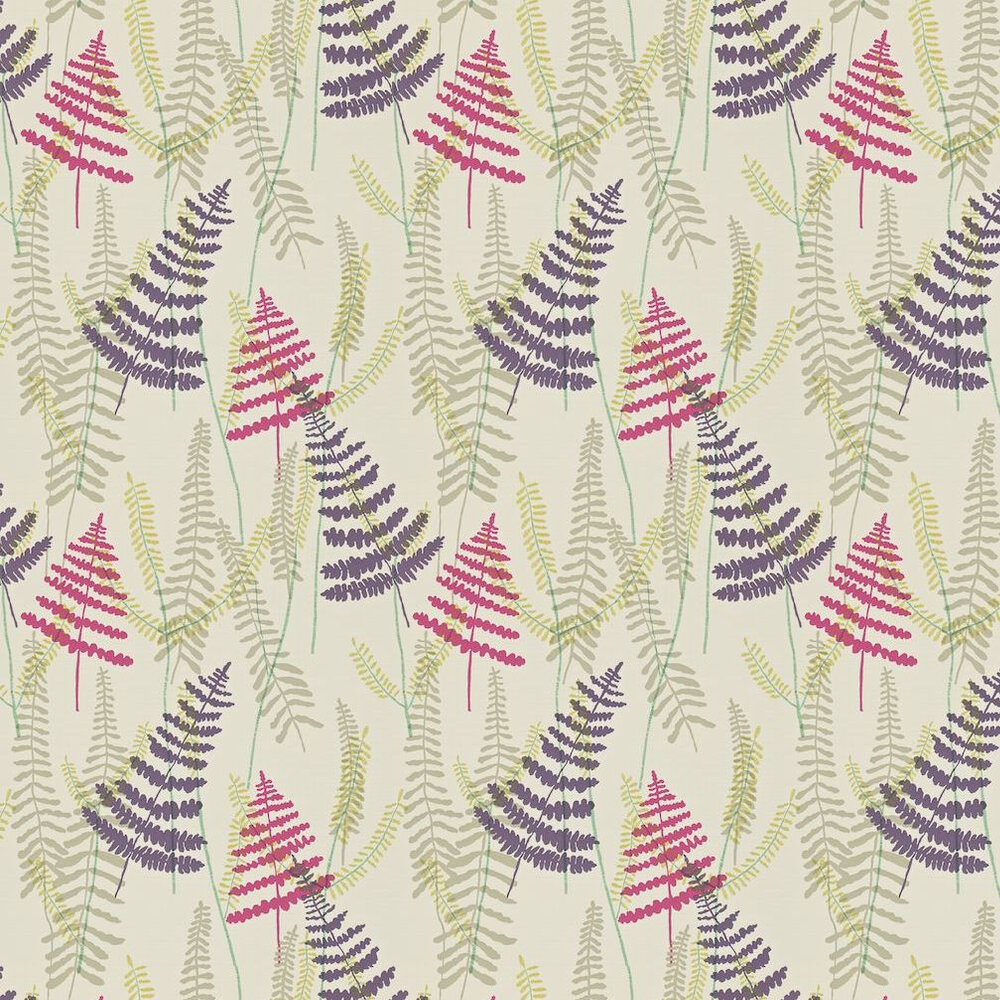 Scion Athyrium Pink / Purple / Green Wallpaper - Product code: 110214