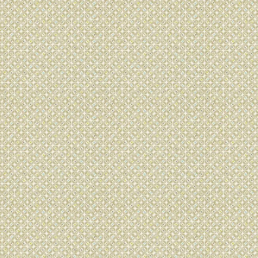 Scion Miro Green / Cream Wallpaper - Product code: 110235