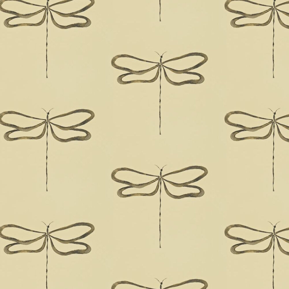 Scion Dragonfly Gold / Charcoal Wallpaper - Product code: 110242