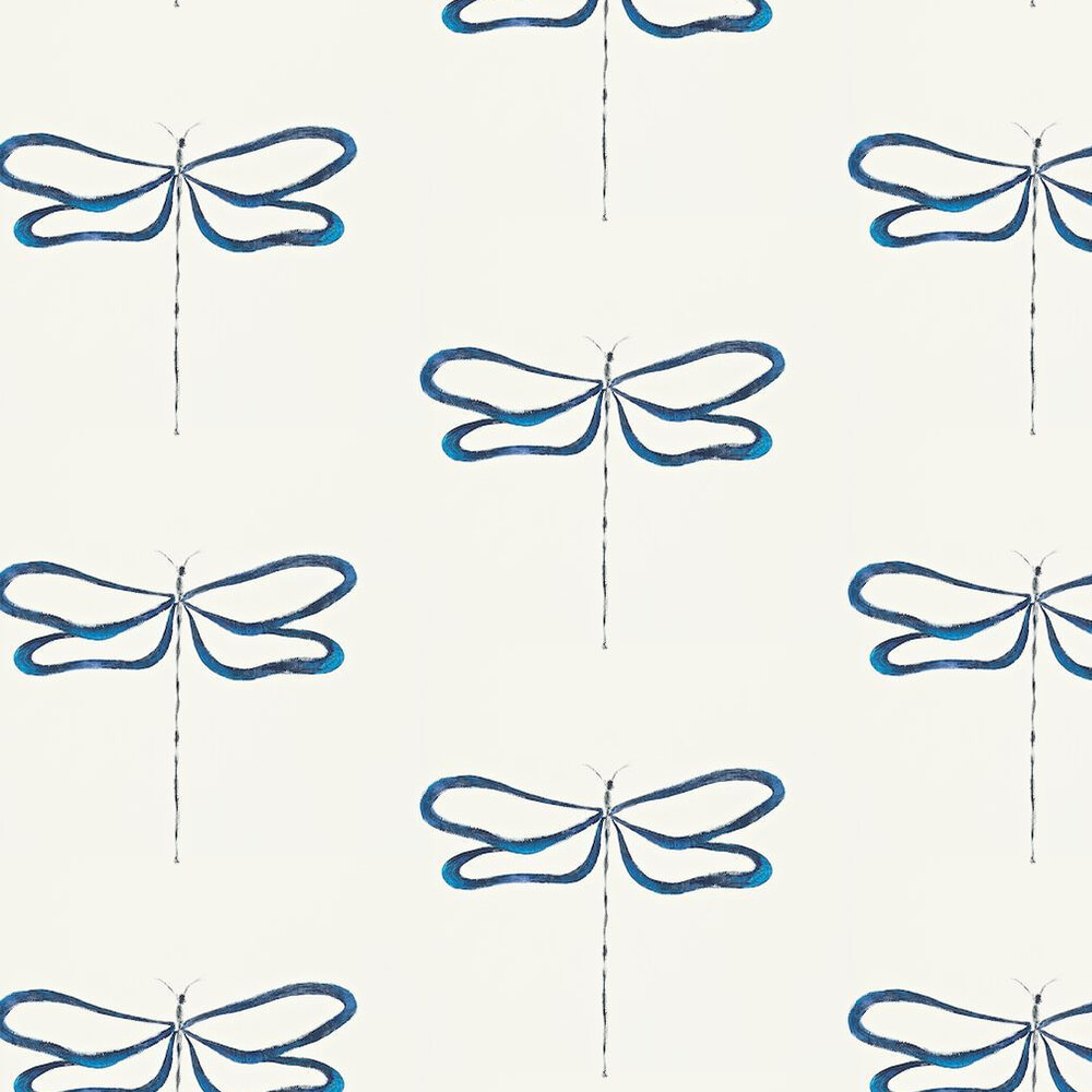 Scion Dragonfly Off White / Blue Wallpaper - Product code: 110246