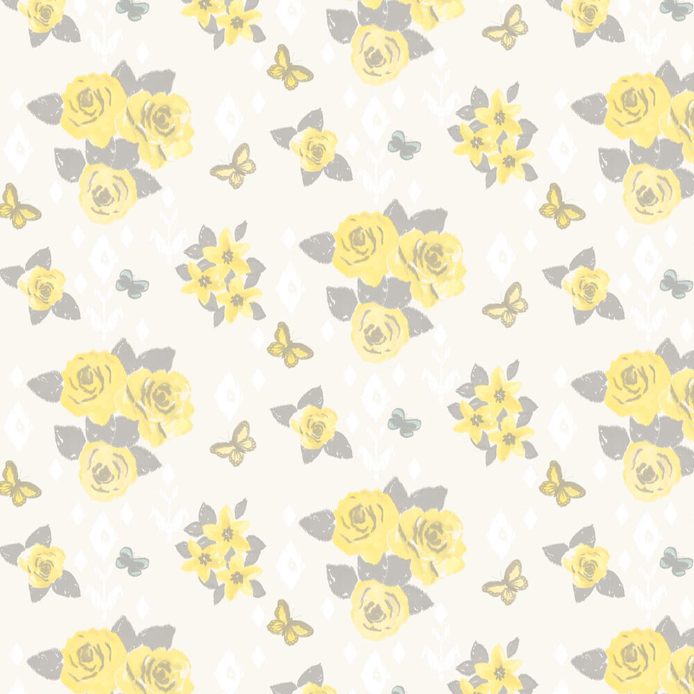 Charlotte Wallpaper - Yellow - by Albany