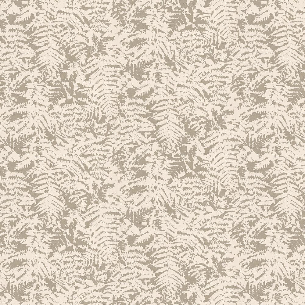 Fern Wallpaper - Gilver / Grey - by Little Greene