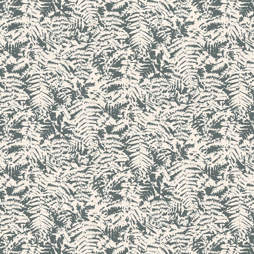 Fern Wallpaper - Charcoal / Grey - by Little Greene