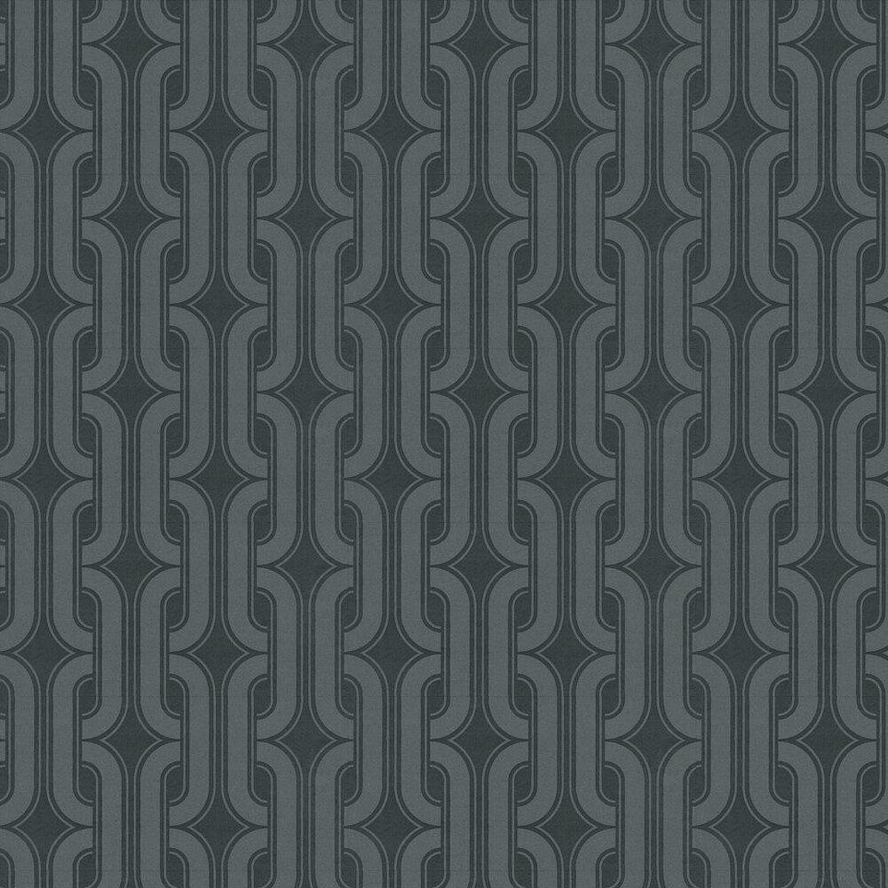 Lavaliers Wallpaper - Dark Grey - by Little Greene