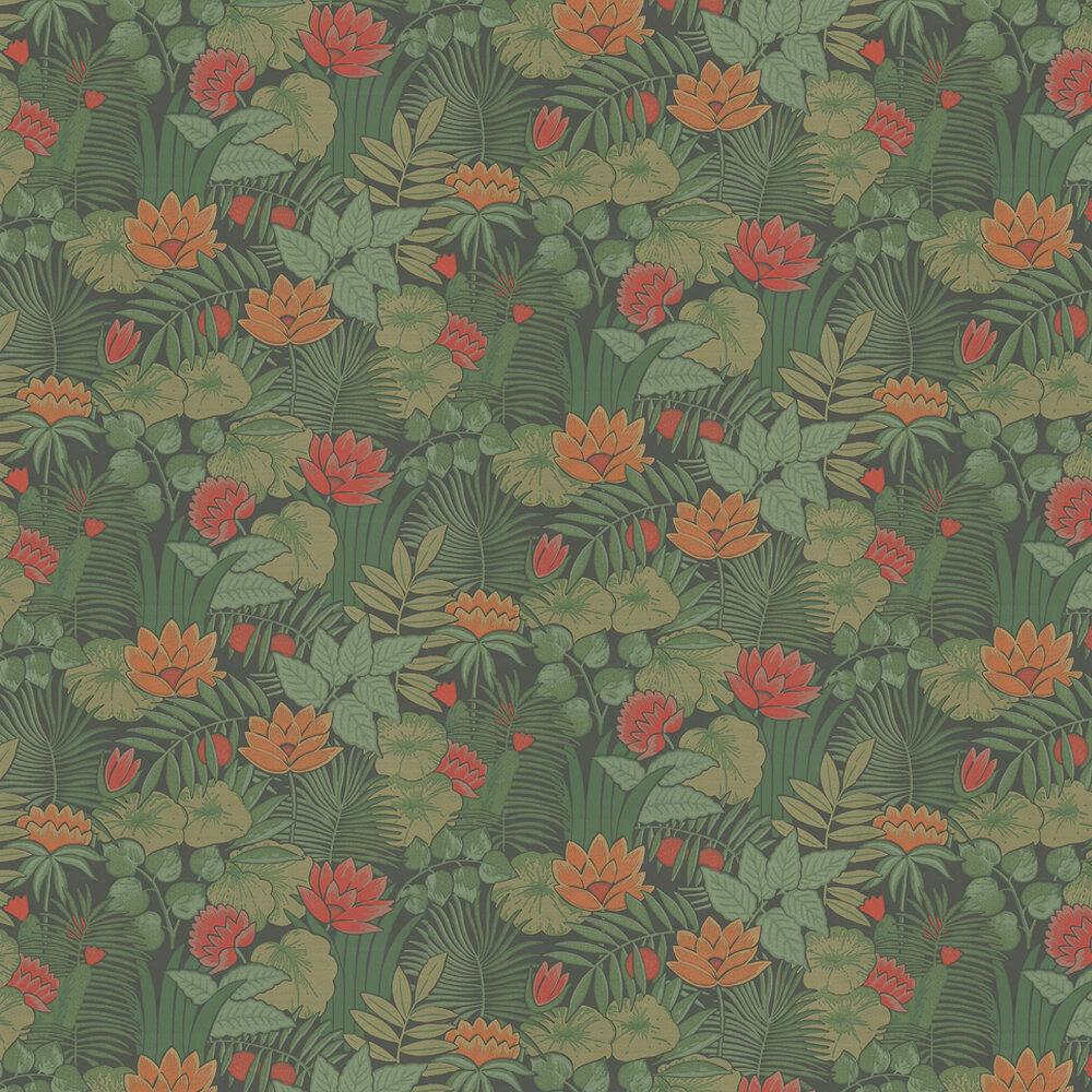 Little Greene Reverie Rich Green Wallpaper - Product code: 0280REJUNGL