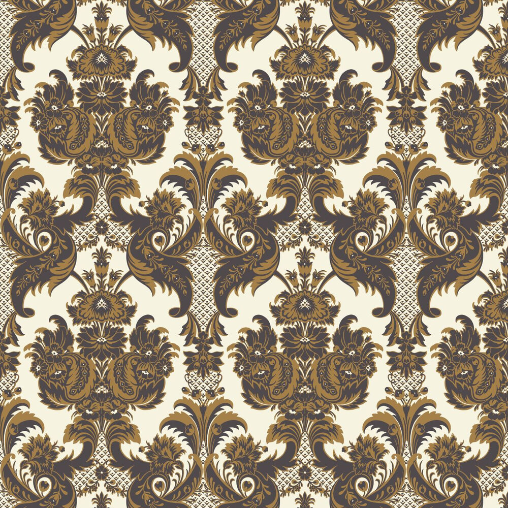 Cole & Son Wyndham Chocolate Brown Wallpaper - Product code: 94/3014