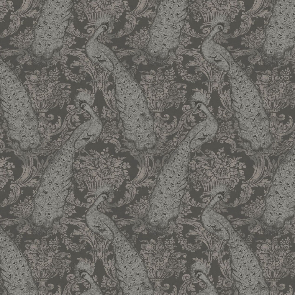 Cole & Son Byron Silver / Charcoal Wallpaper - Product code: 94/7039
