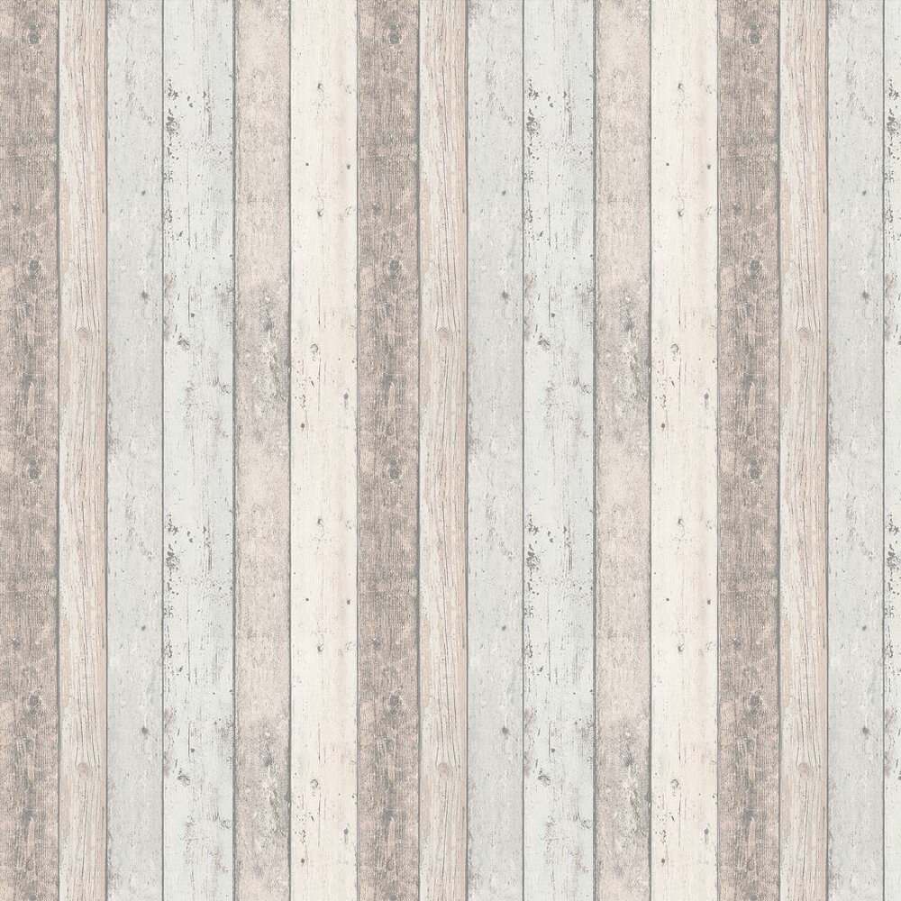 Wood Panelling Wallpaper - Natural Blue - by Albany
