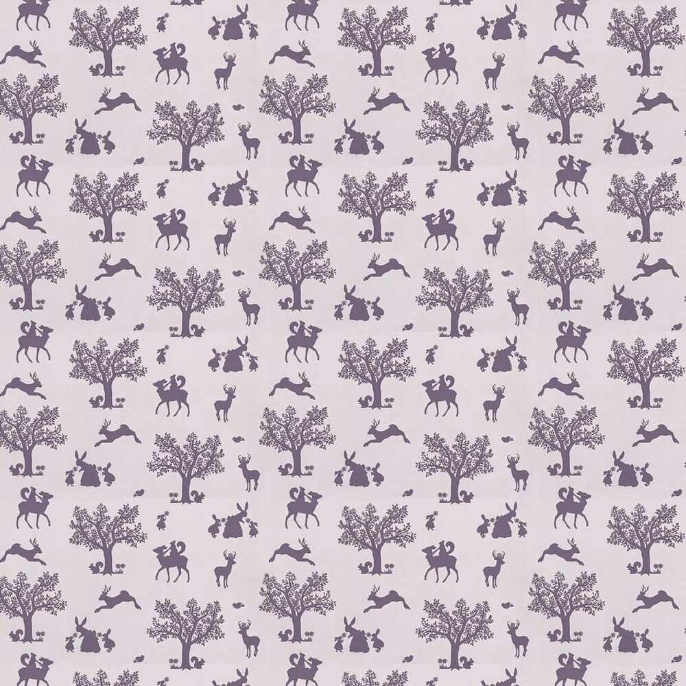 Hibou Home Enchanted Wood Aubergine / Lilac Wallpaper - Product code: HH00101