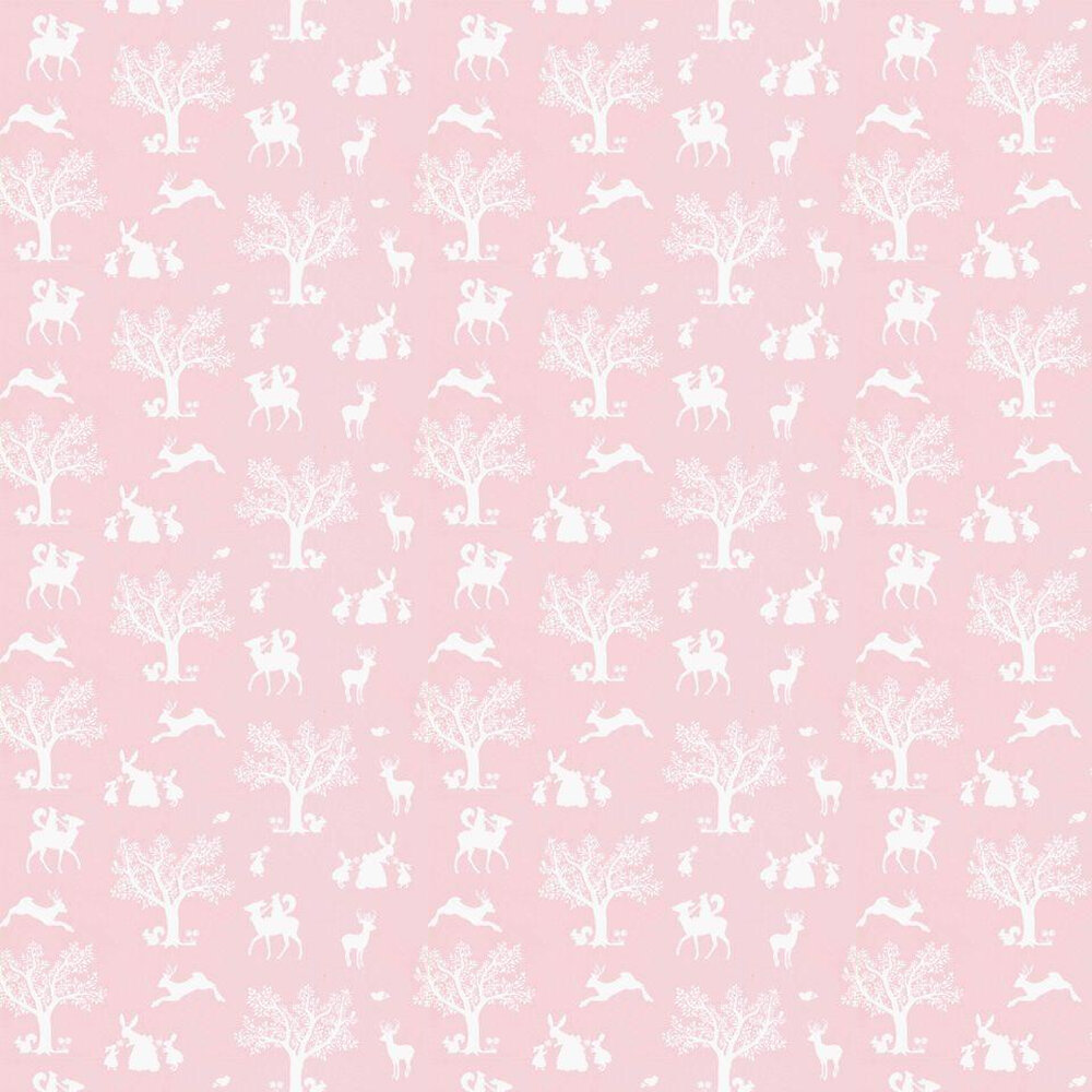 Enchanted Wood Wallpaper - Pink - by Hibou Home