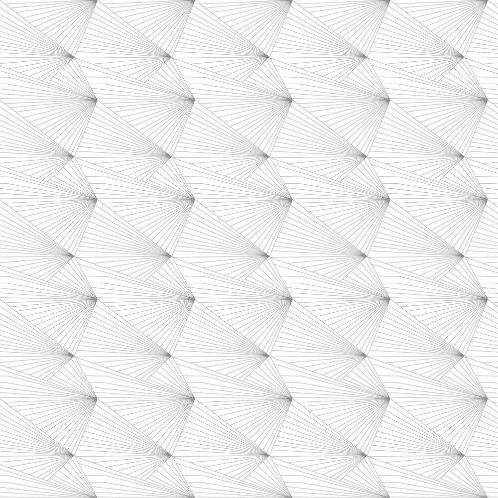 Fan Wallpaper - Grey - by Erica Wakerly