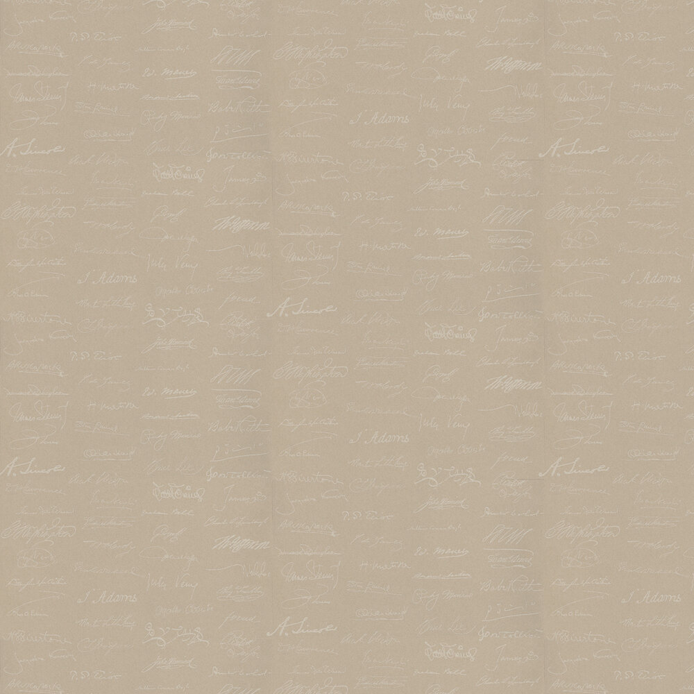 Autograph Wallpaper - Linen - by Andrew Martin