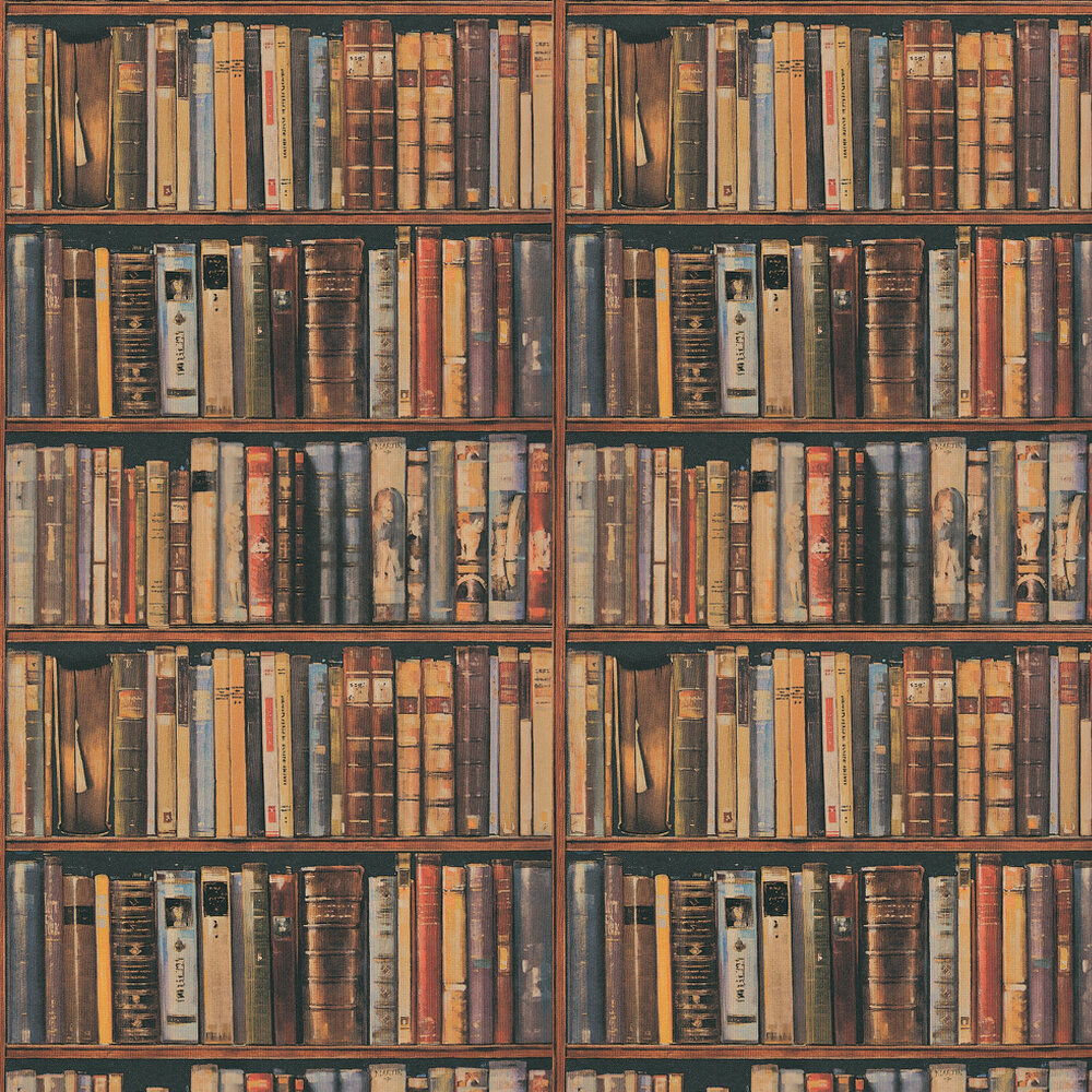 Library Wallpaper - Multi - by Andrew Martin
