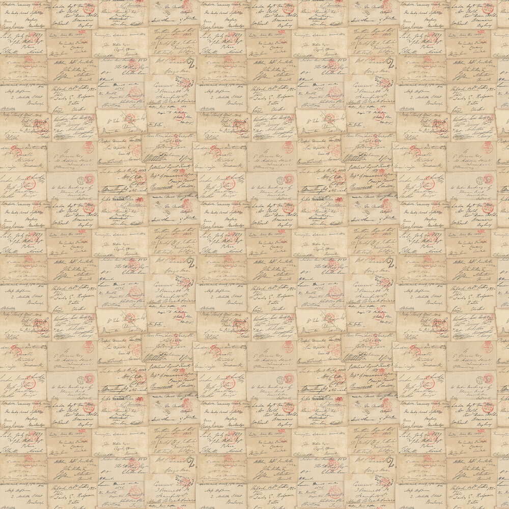 Love Letter Wallpaper - Parchment - by Andrew Martin