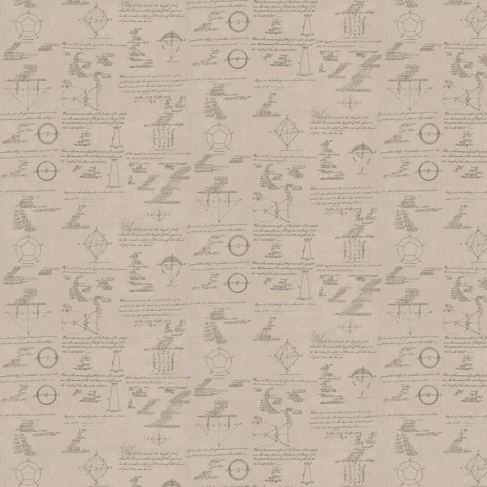 Andrew Martin Pythagoras Taupe Wallpaper - Product code: M01-TAUPE