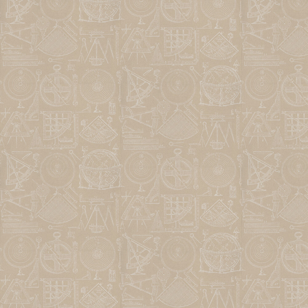 Newton Wallpaper - Linen - by Andrew Martin